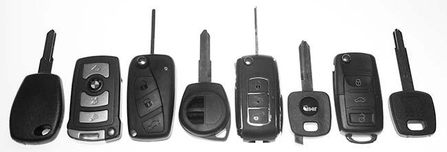 Bilnøgle med fjernbetjening